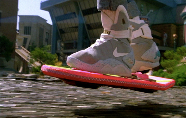 The majestic hoverboard from Back To The Future